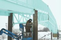 Battle River bridge under construction