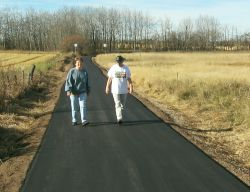 new paved trail in Springbrook nature park